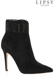 Lipsy Diamanté Detail Ankle Boots