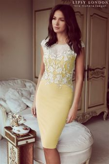 Lipsy Love Michelle Keegan Lace Appliqué Bodycon Dress