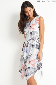 Mela London Floral Print High Low Dress