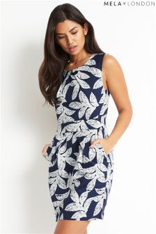 Mela London Leaf Print Dress