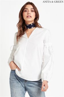 Anita & Green V neck Balloon Sleeve Blouse