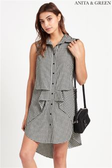 Anita & Green Gingham Shirt Dress