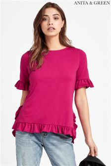 Anita & Green Frill Jersey Top