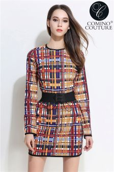 Comino Couture Queen B Mondrian Mini Dress