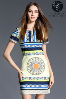 Comino Couture Printed Shift Dress