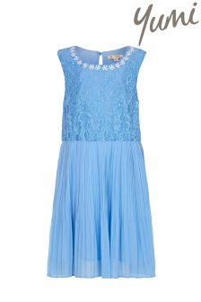 Yumi Girl Pearl Flower Lace Dress