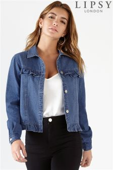 Lipsy Frill Denim Jacket