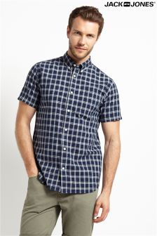 Jack & Jones Premium Short Sleeve Checked Shirt