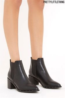 PrettyLittleThing Studded Ankle Boots