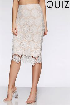 Quiz Lace Midi Skirt