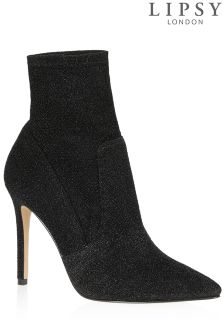 Lipsy Stretch Lurex Ankle Boot