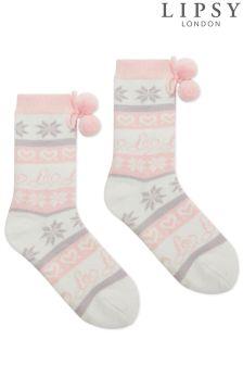 Lipsy Fairisle Slipper Socks