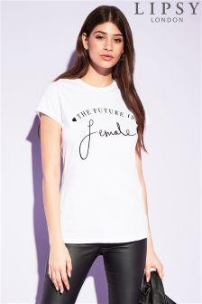 Lipsy 'Future Is Female' Slogan Tee