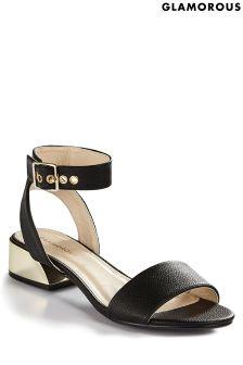 Glamorous Gold Heel Sandal