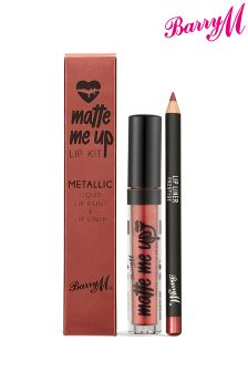 Barry M Matte Metallic Liquid Lip Kit -Prestige