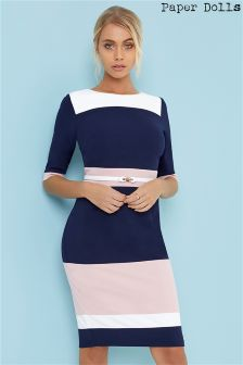 Paper Dolls Colour Block Midi Dress
