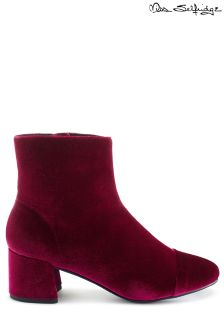Miss Selfridge Velvet Mid Heel Boot