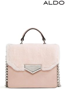Aldo Faux Fur Top Handle Bag