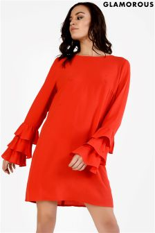 Glamorous Frill Sleeve Dress