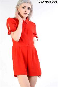 Glamorous Bow Sleeve Playsuit