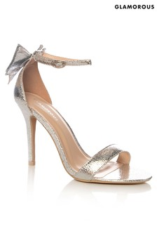 Glamorous Metallic Crackle Sandals