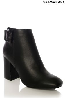 Glamorous Buckle Ankle Boot