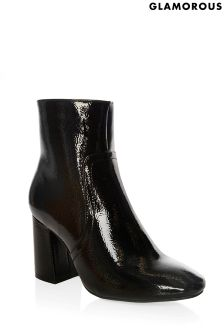 Glamorous Patent Ankle Boots