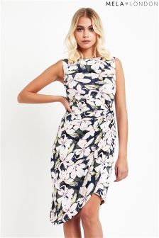 Mela London Side Ruched Floral Bodycon Dress
