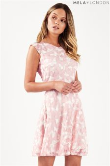 Mela London Butterfly Print Skater Dress