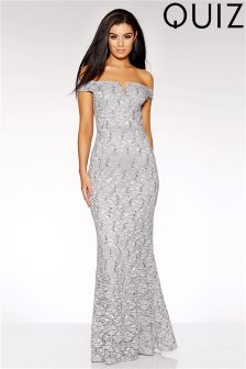 Quiz Lace Bardot Maxi Dress