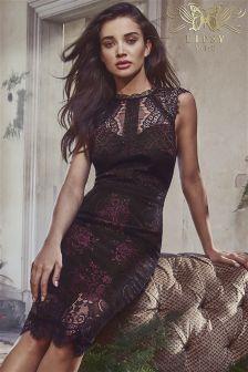 Lipsy VIP Two Tone Lace Midi Dress