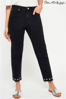 Miss Selfridge Eyelet Straight Leg