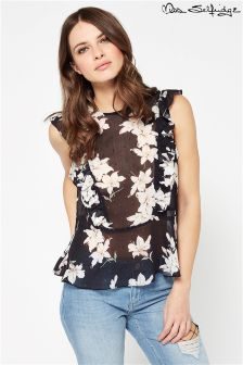 Miss Selfridge Printed Peplum Blouse