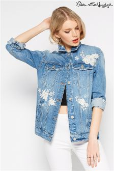 Miss Selfridge Embroidered Denim Jacket
