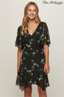 Miss Selfridge V neck Split Shoulder Tea Dress