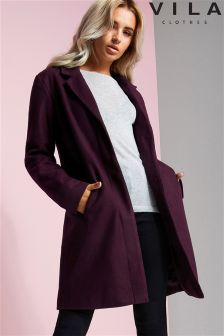 Vila Button Detail Coat