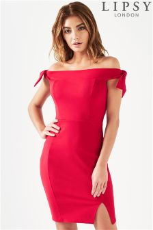 Lipsy Tie Shoulder Bodycon Dress