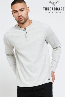 Threadbare Raglan Sleeve Jumper With Grandad Neckline