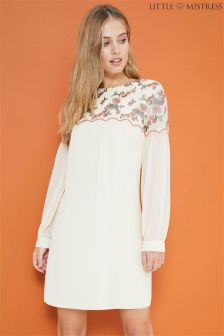 Little Mistress Embroidered Shift Dress