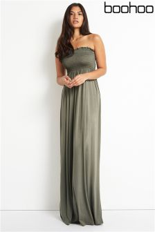 Boohoo Bandeau Maxi Dress