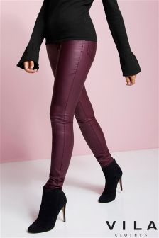 Vila Coated Skinny Jeans