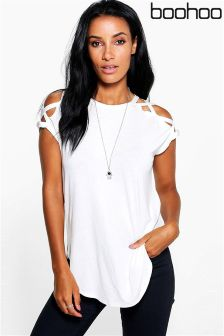 Boohoo Strappy Shoulder Detail Top