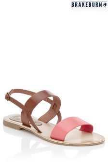 Brakeburn Contrast Strap Leather Sandals