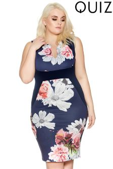 Quiz Curve Floral Bodycon Dress