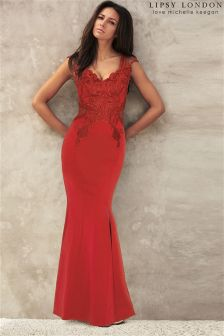 Lipsy Love Michelle Keegan Appliqué Maxi Dress