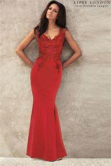 Lipsy Love Michelle Keegan Appliqué Maxi Dress