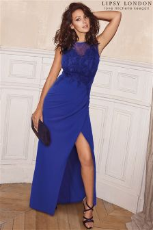 Lipsy Love Michelle Keegan Lace Appliqué Maxi Dress