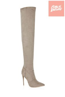 Public Desire Stiletto Over The Knee Boots