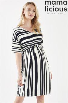 Mamalicious Maternity Wrap Tunic Dress