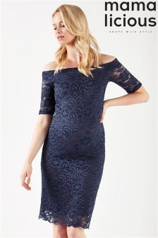 Mamalicious Off The Shoulder Lace Dress